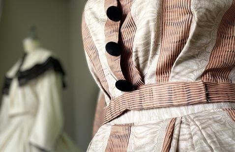 Two dresses recreated from Amelia Gorgas's clothes collection. Photo by Katherine Edge.