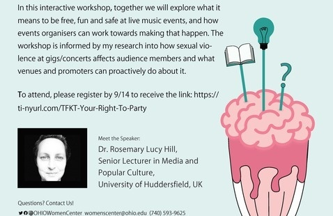 Thirsting for Knowledge Thursday: Your Right to Party: Music, Freedom, Fun  and Safer Spaces