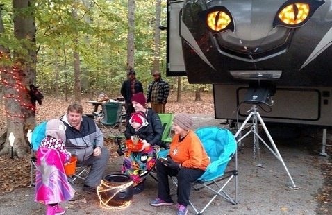 campground trick-or-treat