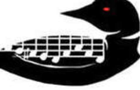 Loon with music notes