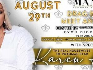 Drag Brunch and Meet & Greet with Karen Huger - Real Housewife of Potomac!
