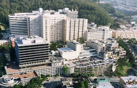 Aerial view of UCSF Parnassus Heights Campus