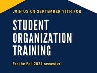 Student Organization Training Fall 2021