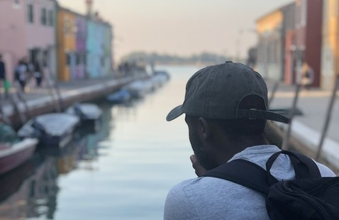 Student In Venice, Italy
