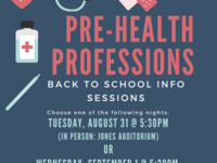 Pre-Health Professions Back to School In-Person Information Session