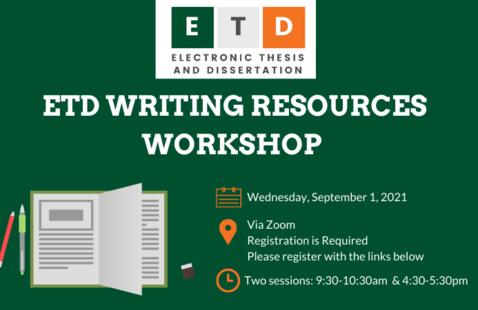 ETD Writing Resources Workshop: Session 1