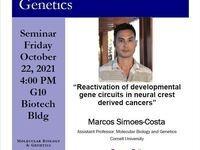 Marcos Simoes-Costa Friday Seminar 10/22/2021 at 4pm Biotech G10