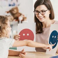 child with communication teacher