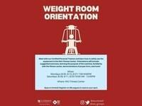 Weight Room Orientations