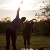 Sunset and Yoga