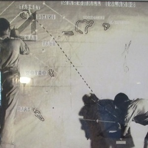 Image: June, 1946: Two Air Force draftsmen make last-minute corrections on a route-map panel. Source: U.S. National Archives