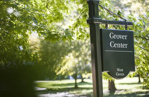 Grover Center campus signage