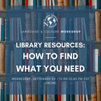 Library Resources: How to Find What You Need