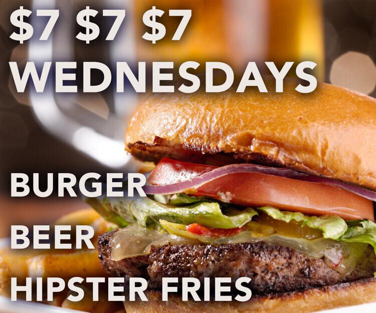 $7 $7 $7 Burger, Fries & Beer