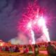 Fireworks behind Benton Hall