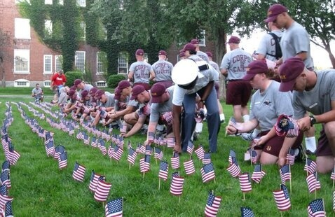 Students Planting Flags on the UP Grounds