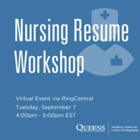 Nursing Resume Workshop