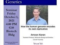 MBG Seminar , Amnon Koren, October 1st at 4pm Biotech G10