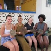 Print making in Ghana