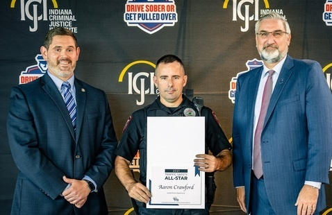 Gov. Holcomb recognizes top officers for impaired driving enforcement