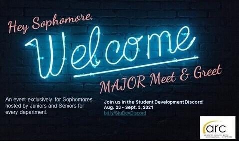 Sophomore Meet & Greet on Discord!