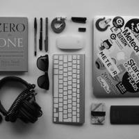 a neatly organized desk