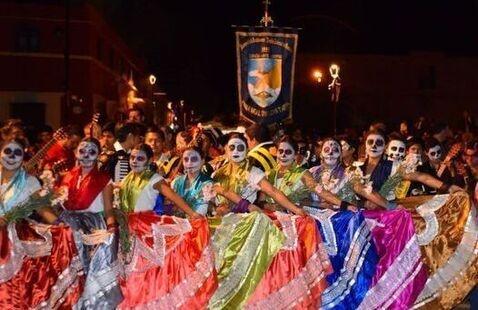 Dia De Los Muertos Festival dancers