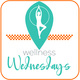 """Silhouette of a figure doing yoga with the title """"Wellness Wednesdays"""" under it."""