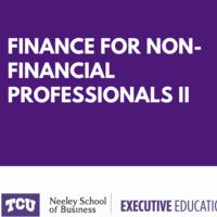 Finance for Non-financial Professionals II Dec 8-9