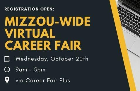 Promo flyer for virtual career fair