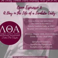 Lambda Theta Alpha Latin Sorority, Incorporated: Delta Phi Chapter Open Espresso + A Day in the Life of a Lambda Lady