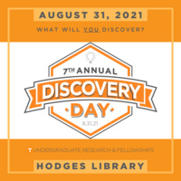 Discovery Day - August 31st in Hodges Library