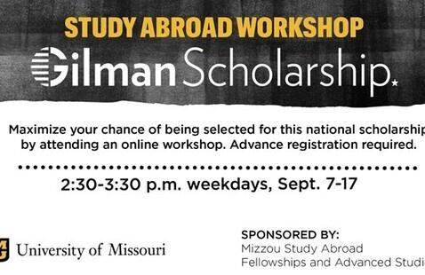 Study Abroad Workshop: Gilman Scholarship