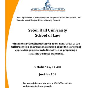 Law School Information Session Seton Hall University