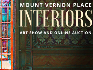 Mount Vernon Place Interiors Art Show and Online Auction painting of room with open door