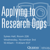 Applying to Research Opps