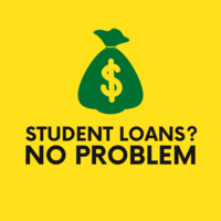 student loans? no problem. bag of money