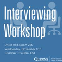 Interviewing Workshop