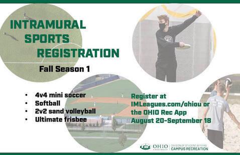 Intramural Sports Registration -- Fall 1
