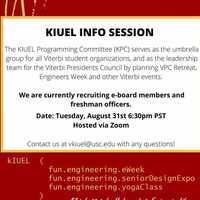 Klein Institute for Undergraduate Engineering Life (KIUEL) Officer Info Session hosted by KIUEL