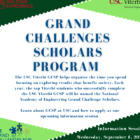 National Academy of Engineering Grand Challenge Scholars Information Session