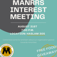 MANRRS Interest Meeting Flyer