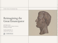 """""""Reimagining the Great Emancipator"""" with Ralph Lerner"""