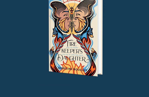 Cover of the YA novel Firekeeper's Daughter with a blue background