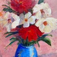 """Exuberance"" acrylic painting by Ellen Wakefield"