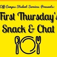 First Thursday's Snack & Chat!