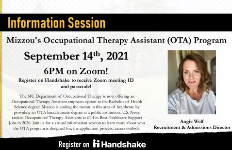SHP: Mizzou's Occupational Therapy Assistant (OTA) Program Virtual Information Session