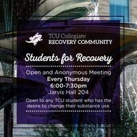 Students for recovery poster