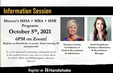 SHP: MU MHA + MBA + MSB Programs Virtual Information Session