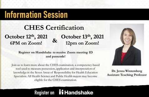 SHP: MU Certified Health Education Specialist (CHES) Virtual Information Session (Day Session)